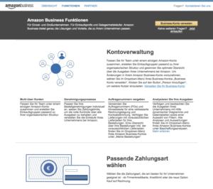 Amazon Business Startseite