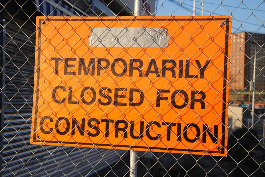 temporary closed for construction